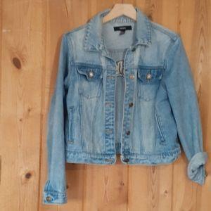 Forever 21 tiger stitching jean/denim jacket